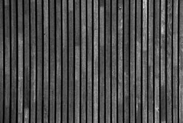 Grey Old Log Cabin Wall Texture. Dark Rustic House Log Wall. Horizontal Timbered Background