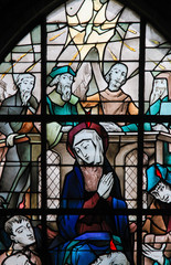 Fototapete - Stained Glass - Pentecost