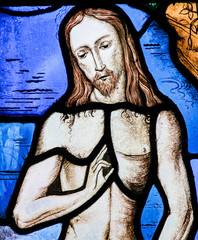 Fototapete - Stained Glass - Jesus Christ