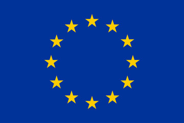 Official European Union flag, correct proportions and colors. Vector