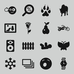 Set of 16 art filled icons