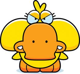 Cartoon Angry Duckling