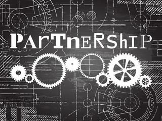 Partnership Blackboard Tech Drawing