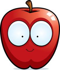 Cartoon Apple Smiling