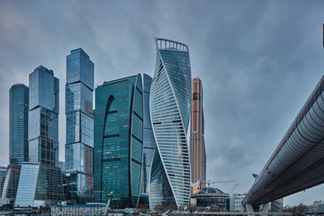 Moscow - 10 January 2017: Moscow city business center
