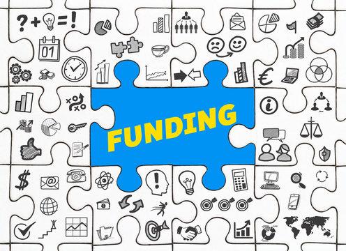 Funding / Puzzle mit Symbole