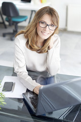 Professional woman at office. Shot of an attractive mature businesswoman working in her workstation.