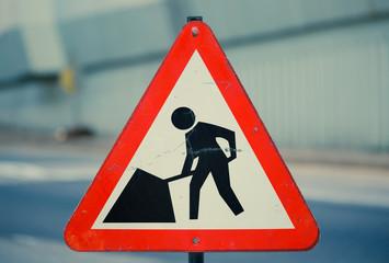 Achtung Bauarbeiten Schild