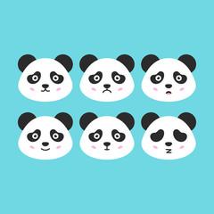 Flat Panda Faces