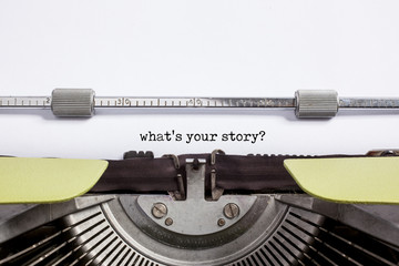 typewrite closeup - what's your story?