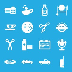 Set of 16 clipart filled icons
