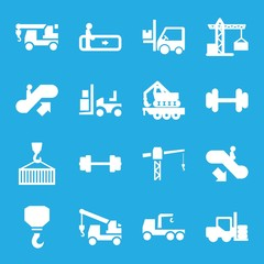 Set of 16 lift filled icons