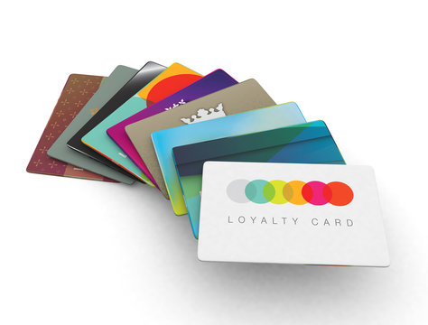 stack of different loyalty reward cards