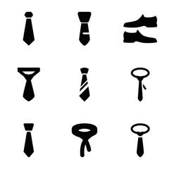Set of 9 formal filled icons