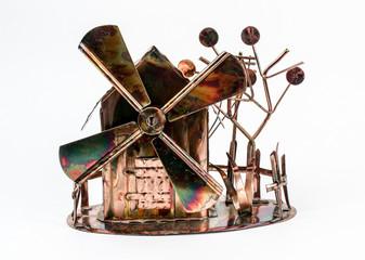 Vintage Windmill Decoration Music Box