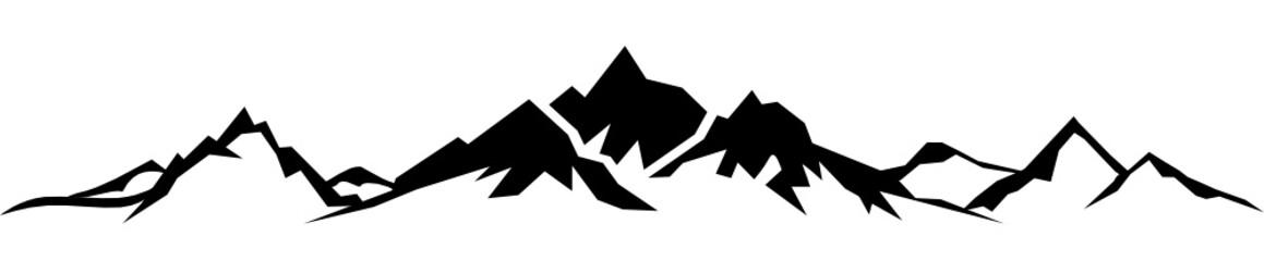 Silhouette Berge