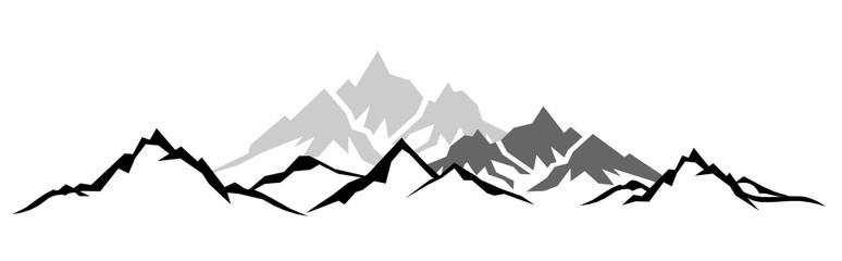 Silhouette Berge Wall mural