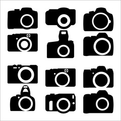 Simple various camera icon vector set 4 of 6