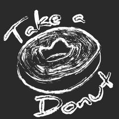 Take a donut chalk art sign