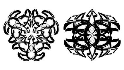 Set of 2 logo,signs,symbol,tattoo for design brand or logo company.