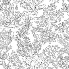 Seamless Pattern with Corals