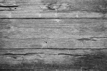 Close-up of an old teak board wall texture background in black&white.