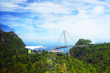 Sky Bridge, wellknown landmark in Malaysia, Asia