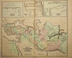 Ancient map of the world . Published by George Philip and son at London 1857 and  are not subject to copyright.