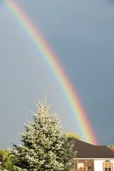 Rainbow over House