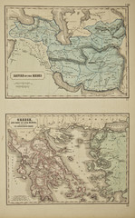 Grees and Medes. Ancient map of the world . Published by George Philip and son at London 1857 and  are not subject to copyright.