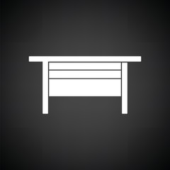 Boss office table icon
