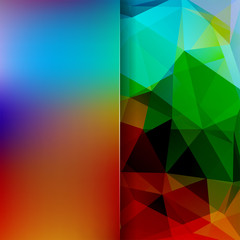 Abstract polygonal vector background. Colorful geometric vector illustration. Creative design template. Abstract vector background for use in design. Brown, blue, green colors.