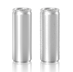 aluminum can isolated on white background, 3D rendering