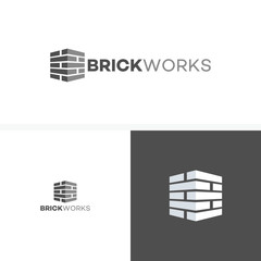 Brick Work simple modern logo template