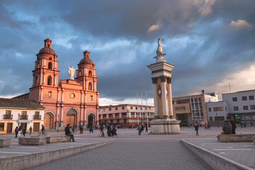 IPIALES, COLOMBIA - FEBRUARY 06, 2017: Main Square of Ipiales city, Colombia
