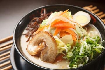 yasai ramen. Japanese style noodles.