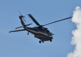 Heavy black helicopter