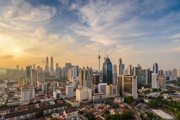 Fotorolgordijn Kuala Lumpur Kuala Lumpur city skyline when sunrise, Malaysia