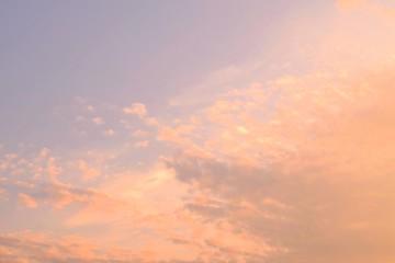 染まるハケ雲