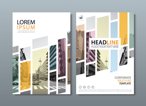 Annual report brochure flyer design template vector, Leaflet cover presentation, book cover, layout in A4 size.
