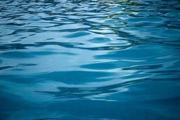 Blue sea wave surface.