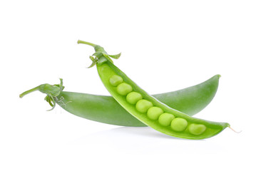 sugar peas isolated on white background