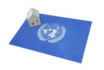 Small house on a flag - UN