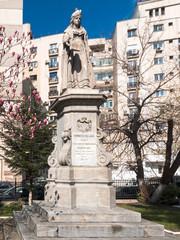 Statue of Domnita Balasa in Bucharest, Romania