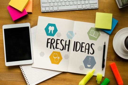 FRESH IDEAS Ideas Design Innovation think Objective Strategy , NEW FRESH , Innovative Business innovation concept