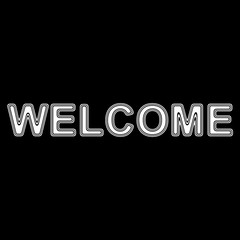 """WELCOME"" on A black Background."