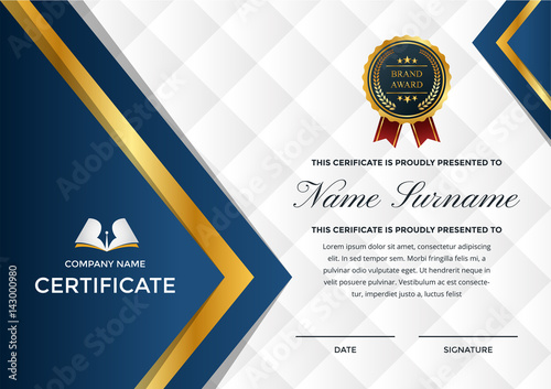 Modern Premium Company Certificate Of Achievement And Appreciation - Free modern logo templates
