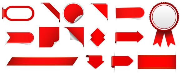red design elements