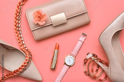 Fashion design woman accessories set pastel colors for Fashion designer craft sets