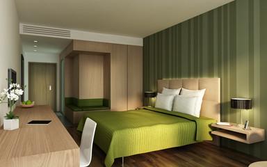 Hotelzimmer P1 grün